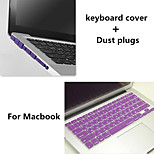 Cheapest Solid Color Keyboard Cover and Hinder Dust Plug for Macbook Retina 15.4 inch