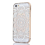 Metal Frame Full Embossment Lace White Pattern Hard Case for iPhone 5/5S(Assorted Colors)
