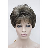 New Color RM73 Women's Wigs Brown Mix Straight Short Wig Synthetic Hair Full Wig
