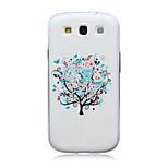 små vita blommor mönster TPU mjuk baksida täcker fallet för Samsung Galaxy S3