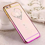 Diamond Bling Transparent Back Cover Case for iPhone 4/4S(Assorted Colors)