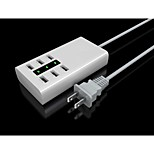 Six Ports USB Power Charger Adapter YC-CDA5 for iPhone / iPad / Samsung / HTC / LG- White (US Plug)