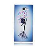 Humanoid Trees Pattern TPU Soft Back Cover Case for Sony Xperia M2