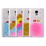 fisk strålede stjerner blandet farver TPU blød bagsiden tilfældet for Samsung Galaxy Note 4 (assorterede farver)