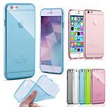 alta qualità TPU custodia morbida per iPhone 6 (colori assortiti)