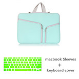 Top Selling Solid Color Canvas Zipper bag with Keyboard Cover for Macbook Pro 13.3 (Assorted Colors)