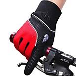 Cycling Bike Bicycle Anti-Slip Breathable Breathable Mesh TPU Polar fleece EVA Pad Pattern Full-Finger Gloves