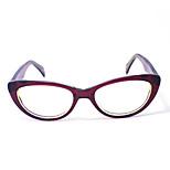 [Free Lenses]  Women 's Acetate Round Full-Rim Fashion Prescription Eyeglasses