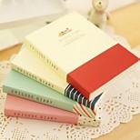 Cute Small Fresh Extra Thick Notebook (Random Color)