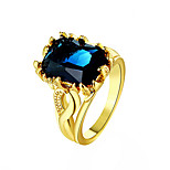 May Polly 18K gold plated color sapphire ring