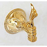 Clasic Solid Brass PVD-TI Gold Finish Bathroom Wall Robe Hook Coat Hat Door Hanger Wall Mounted