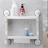 sucção poderosa banheiro / cozinha prateleira de armazenamento / prateleira duas camadas com gaveta