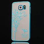 korkealaatuista pinnoitus timantti puu puhelimen suojakotelo Samsung Galaxy s6 (eri värejä)