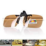 Clip-on Polaroid Polarized Resin Lens night vision Sports Sunglasses and Cleaning cloth