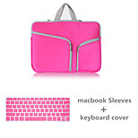 Top Selling Solid Color Canvas Zipper bag with Keyboard Cover for Macbook Retina 13.3 (Assorted Colors)