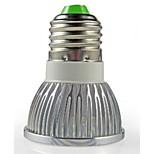 Focos Decorativa HRY PAR E26/E27 3 W 3 LED de Alta Potencia 260 LM Blanco Cálido/Blanco Fresco AC 100-240 V 1 pieza