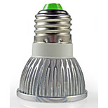 Faretti 3 LED ad alta intesità HRY PAR E26/E27 3 W Decorativo 260 LM Bianco caldo/Luce fredda 1 pezzo AC 220-240 V