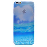 Blue Ocean Scenery Pattern Semipermeable Scrub PC Material Phone Case for iPhone 6