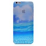 teste padrão azul cenário do oceano semipermeável matagal pc caso de telefone material para iphone 6