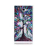 Colorful Tree of Life Pattern TPU Soft Back Cover Case for Sony Xperia M2