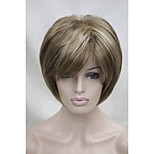 New Light Brown with Blonde highlight three short straight women's synthetic wig