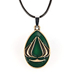 Vilam® American Hero Green Zinc Alloy with Dripping Oil Pendant Necklace