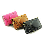 Dengpin Protective Detachable Leather Camera Case Bag Cover with Shoulder Strap for Casio ex-zr3500 (Assorted Colors)