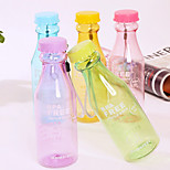 550ML Reusable Unbreakable Soda Water Bottle Leakproof for Sport Cycling (Random Color)