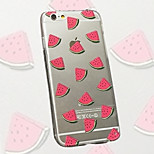Diced Watermelon Pattern TPU Material Phone Case for iPhone 6