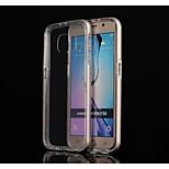 specielle design af høj kvalitet, ensfarvet metal kofanger transparent TPU Bagcover til samsung s6