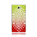 Color Lace Flowers Pattern TPU Soft Back Cover Case for  Sony Xperia M2