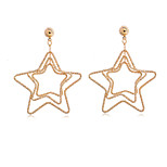 Women's Fashion 18K Gold plated  Star Earrings