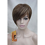 High Quality Heat Resistance Synthetic Fiber Asymmetrical Tilted Bangs Short Wig