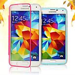 pantalla táctil de borde suave de acrílico transparente del tpu flip libre para i9600 Samsung Galaxy S5 (colores surtidos)