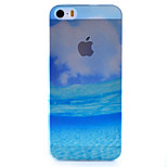 Blue Sea Scenery Pattern Semipermeable Scrub PC Material Phone Case for iPhone 5/5S