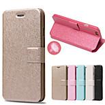 patrón de seda con el bolso de la tarjeta caso de cuerpo completo para iphone 6 más (color clasificado)