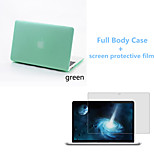 Solid Color PVC Full Body Matte Case with Screen Protetive Film for Macbook Air 11.6 inch (Assorted Colors)
