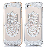 Metal Frame + Hollow Flower Pattern Backplane Back Case Cover for iPhone 5/5S (Assorted Colors)
