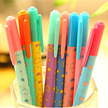 Creative And Fresh Lovely Colorful Neutral Pen(Random Color)
