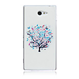 White Trees Pattern TPU Soft Back Cover Case for Sony Xperia M2