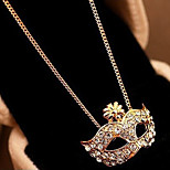 New Arrival Fashional Hot Selling Rhinestone Mask Necklace