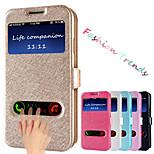 motif de soie bascule cas de couverture sac de téléphone en cuir avec fonction de conception de stand pour le i9500 de Samsung Galaxy
