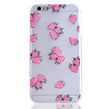 Strawberry Fruit Pattern Transparent TPU Soft Phone Case for iPhone 6