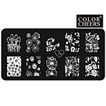 Women's Nail Art Manicure Template Image Stamp Stamping Plates DIY Decors12x6CM 10#