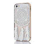 Metal Frame Full Embossment White Campanula Pattern Hard Case for iPhone 5/5S(Assorted Colors)