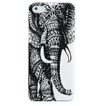Left Elephant Pattern Hard Case Cover for iPhone 5/5S