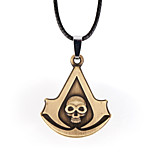 Vilam® American Hero Arrow Shape Skull Skeleton Zinc Alloy Pendant Necklace