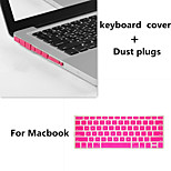 2016 Hot Selling Solid Color Keyboard Cover and Hinder Dust Plug for Macbook Retina 13.3 inch