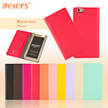 LEIERS® Solid Color Macarons Series Leather Flip Cover Wallet Card Slot Case for iPhone 6 (Assorted Colors)
