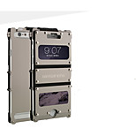 Dual-window With Rivet Design Metal Full Body Case With Stand for iPhone 6